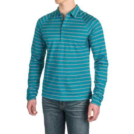 NAU Polonium Shirt - Organic Cotton, Long Sleeve (For Men) in Celestial Stripe - Closeouts