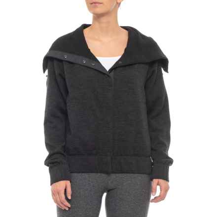 NAU Randygoat Jacket - Merino Wool (For Women) in Caviar Heather - Closeouts