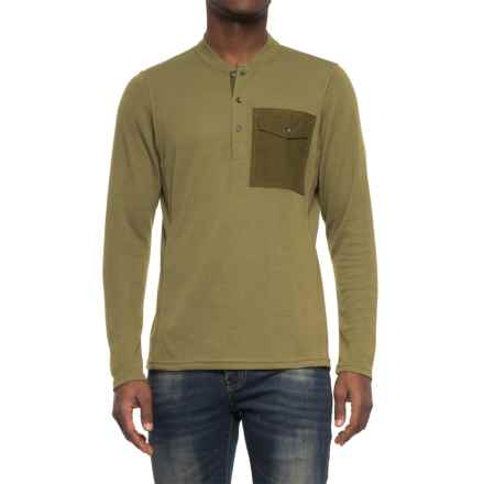 NAU Randygoat Lite Henley Shirt - Long Sleeve (For Men) in Frond Heather - Overstock