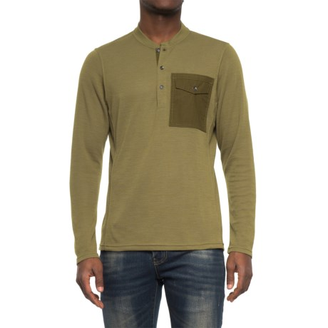NAU Randygoat Lite Henley Shirt - Long Sleeve (For Men) in Frond Heather