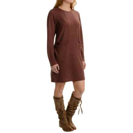 NAU Randygoat Lite Shift Dress - Wool Blend, Long Sleeve (For Women) in Redwood Heather - Closeouts