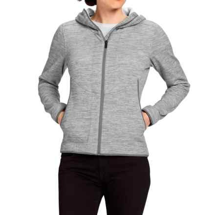 NAU Randygoat Plus Hoodie - Full Zip (For Women) in Zinc Heather - Closeouts