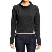 NAU Randygoat Shrug Sweater - Wool-Recycled Materials (For Women) in Caviar Heather - Closeouts