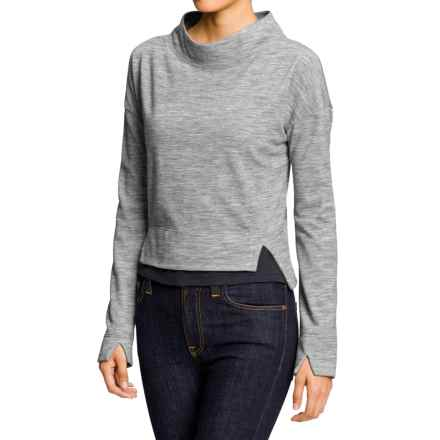 NAU Randygoat Shrug Sweater - Wool-Recycled Materials (For Women) in Zinc Heather - Closeouts