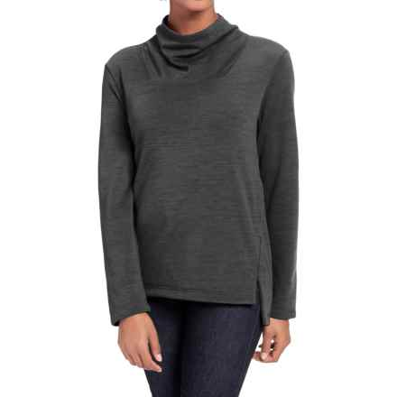 NAU Randygoat Slouchy Sweater (For Women) in Caviar Heather - Closeouts