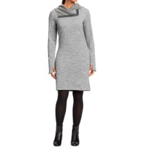 NAU Randygoat Sweater Dress - Hooded, Long Sleeve (For Women) in Zinc Heather - Closeouts
