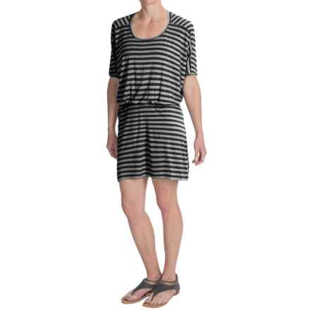 NAU Repose Dress - Micromodal®, Short Sleeve (For Women) in Cape Stripe - Closeouts