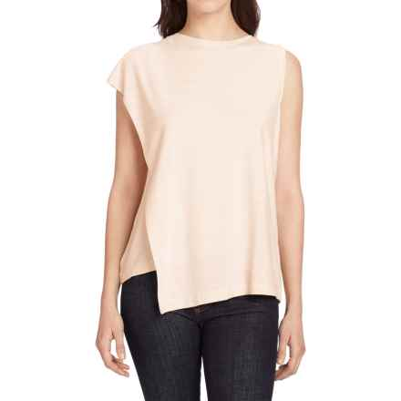 NAU Repose Faux-Wrap Tank Top (For Women) in Blush Stripe - Closeouts