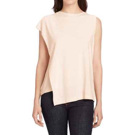 NAU Repose Faux-Wrap Tank Top (For Women) in Blush Stripe - Closeouts