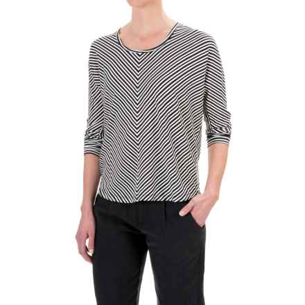 NAU Repose Maitye Shirt - 3/4 Sleeve (For Women) in Caviar Stripe - Closeouts