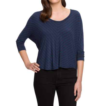 NAU Repose Maitye Shirt - 3/4 Sleeve (For Women) in Midnight Stripe - Closeouts