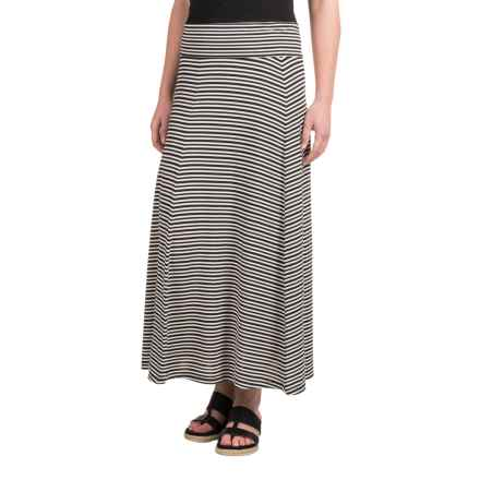 NAU Repose Skirt - Micromodal® (For Women) in Caviar Stripe - Closeouts