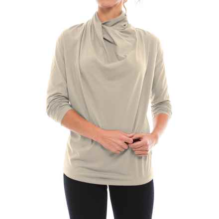 NAU Reposition Shirt - Organic Cotton Blend, Long Sleeve (For Women) in Glaze - Closeouts