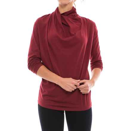 NAU Reposition Shirt - Organic Cotton Blend, Long Sleeve (For Women) in Pomegranate - Closeouts