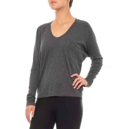 NAU Ribellyun Shirt - Organic Cotton-TENCEL®, Long Sleeve (For Women) in Caviar Heather - Closeouts