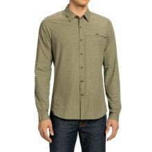 NAU Sketch Plaid Shirt - Long Sleeve (For Men) in Cactus Plaid - Closeouts