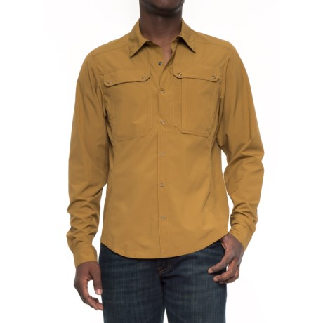 NAU Slight Shirt - Long Sleeve (For Men) in Curry