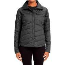 NAU Twill Down Shirt Jacket - Organic Cotton, Snap Front, Long Sleeve (For Women) in Caviar Heather - Closeouts