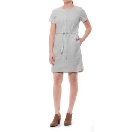 NAU Twisted Dress - Short Sleeve (For Women) in Bone - Closeouts
