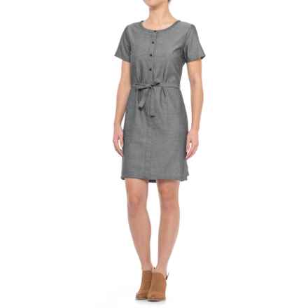 NAU Twisted Dress - Short Sleeve (For Women) in Caviar - Closeouts