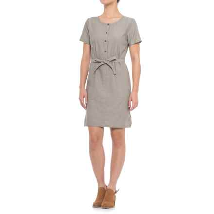NAU Twisted Dress - Short Sleeve (For Women) in Sable - Closeouts