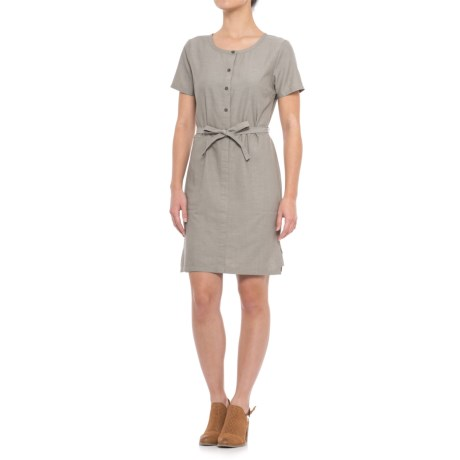 NAU Twisted Dress - Short Sleeve (For Women) in Sable
