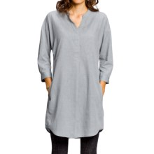 NAU Twisted Shirt Dress - Organic Cotton-TENCEL®, Long Sleeve (For Women) in Basalt Chambray - Closeouts