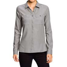 NAU Twisted Shirt - Organic Cotton-TENCEL®, Long Sleeve (For Women) in Cape Chambray - Closeouts