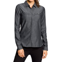 NAU Twisted Shirt - Organic Cotton-TENCEL®, Long Sleeve (For Women) in Caviar Chambray - Closeouts