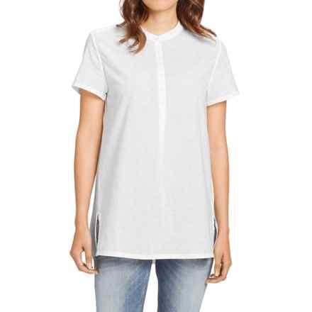 NAU Whisp-Her Tunic Shirt - Organic Cotton, Short Sleeve (For Women) in Pure - Closeouts