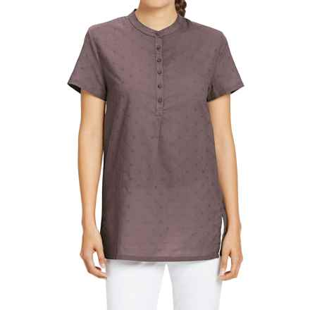 NAU Whisp-Her Tunic Shirt - Organic Cotton, Short Sleeve (For Women) in Sparrow - Closeouts