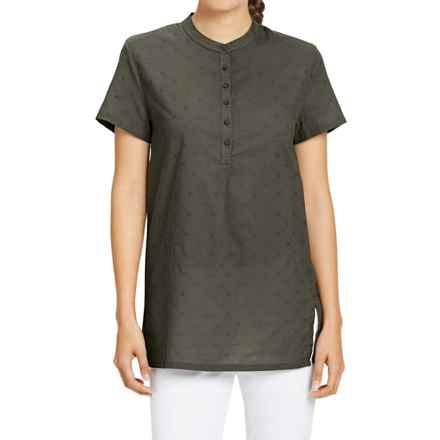 NAU Whisp-Her Tunic Shirt - Organic Cotton, Short Sleeve (For Women) in Tarmac - Closeouts