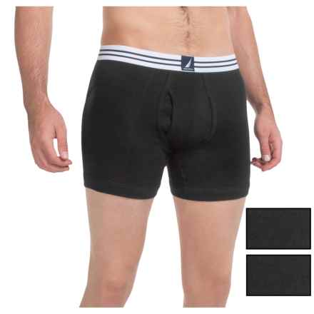 Nautica Cotton Boxer Briefs - 3-Pack (For Men) in Black - Closeouts