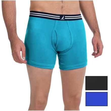 Nautica Cotton Boxer Briefs - 3-Pack (For Men) in Star Turquoise/Black/Sea Cobalt - Closeouts