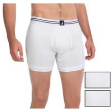 Nautica Cotton Boxer Briefs - 3-Pack (For Men) in White - Closeouts
