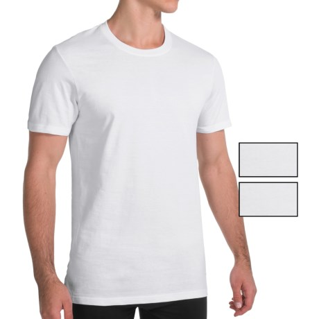 Nautica Cotton Crew Neck T-Shirt - 3-Pack, Short Sleeve (For Men) in White