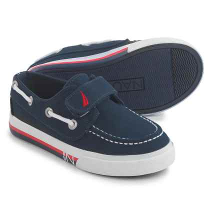 Nautica Little Riv 3 Boat Shoes (For Little Boys) in Navy - Closeouts