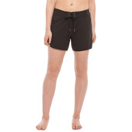 "595d17d1c4845 Nautica Swim Boardshorts - 4-1/2"" (For Women) in Black"