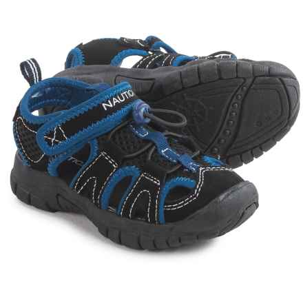Nautica Wallport Sport Sandals (For Little Boys) in Black/Blue - Closeouts