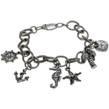 Nautical Charm Bracelet in Rhodium - 2nds