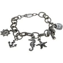 Nautical Charm Bracelet in Rhodium - 2nds