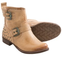 Naya Agatha Boots - Leather, Side Zip (For Women) in Taupe - Closeouts