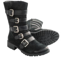 Naya Darryn Boots - Leather (For Women) in Black - Closeouts