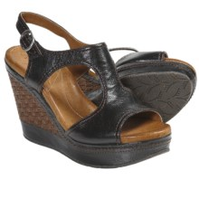 Naya Eternal Wedge Heel Sandals (For Women) in Black - Closeouts