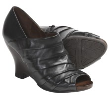 Naya Genesis Wedge Shoes - Leather (For Women) in Black - Closeouts