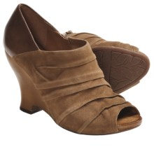 Naya Genesis Wedge Shoes - Leather (For Women) in Tan - Closeouts