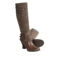 Naya Juniper Tall Boots - Suede-Leather (For Women) in Lunar Taupe - Closeouts