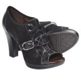 Naya Kasha Leather Pumps - Peep Toe (For Women)