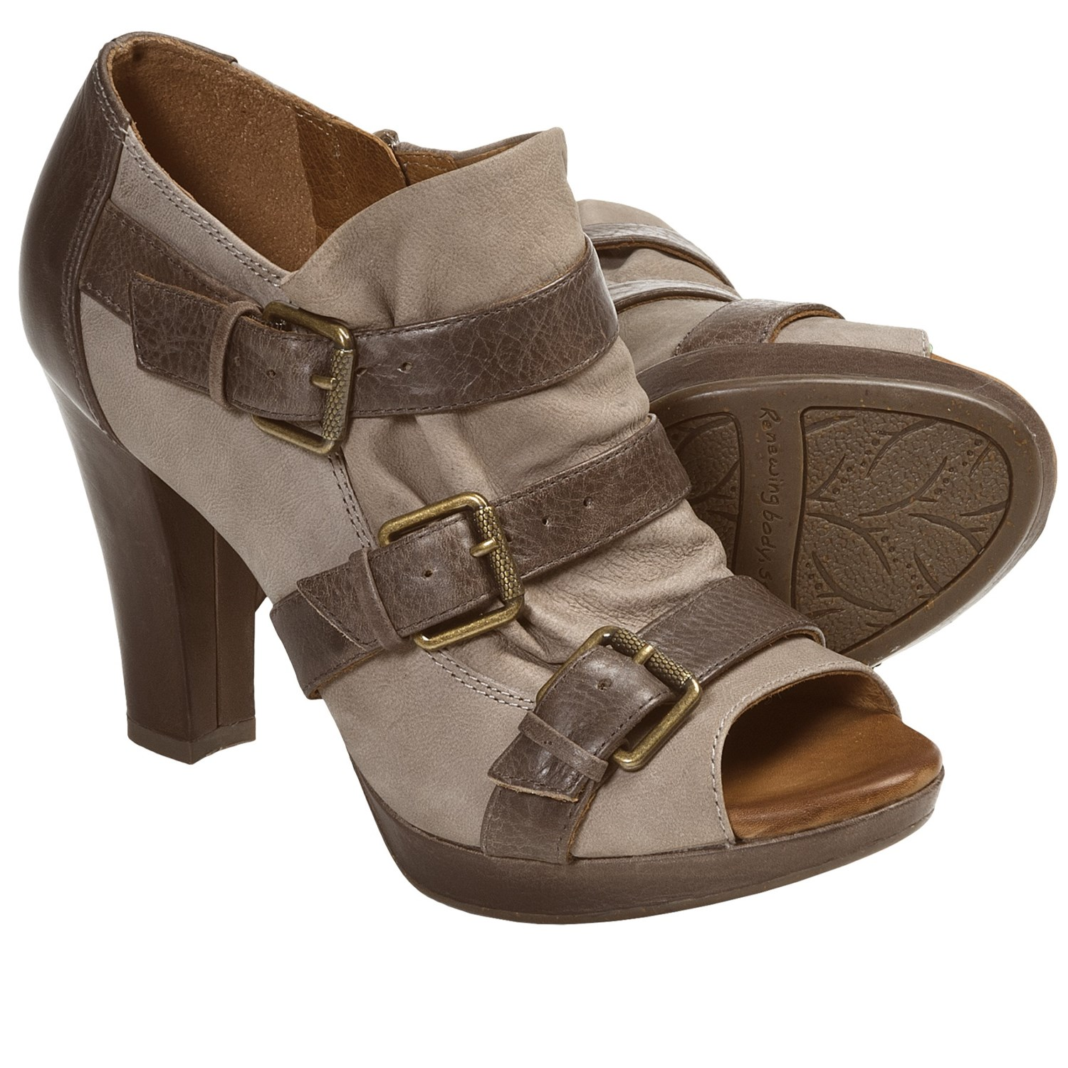 Naya Kindred Heel Shoes (For Women) in Taupe/Brown
