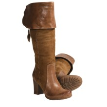 Naya Narubi Tall Boots - Suede-Leather, Side Zip (For Women) in Tan - Closeouts